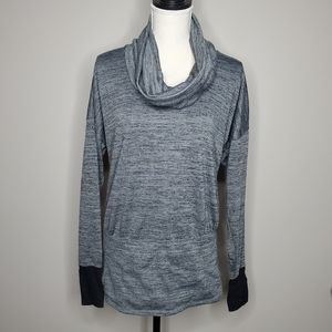 Athleta Batwing and Robin Heathered Cowl Sweater